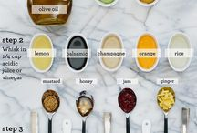 Salad dressings / Variety of dressings
