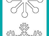 hópehely + sablonok