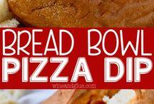 Breadbowl pizza dip