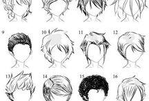 coiffures manga courtes
