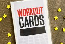 Printable workouts card