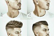 Miesten hiukset