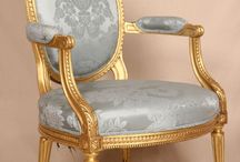 antique gold chair