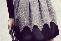Skirt in the winter!