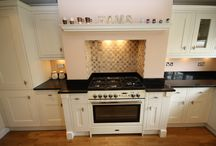 Beaulieu Park - Painted Oak Kitchen / Painted Oak - In frame units with dark Granite worktops and up stands. Designed, Supplied and Installed by KITCHENCRAFT Witham, Essex