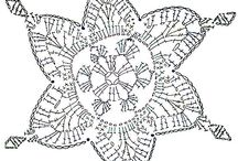 Decoration crochet - stars, window decoration