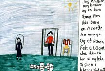 CHILDREN´S  WISHES FOR OUTDOORS - PLUS DESCRIPTIONS OF THEIR SITUATIONS / Lay out for the drawings with descriptions: 1) Use dry colours. 2) A 4 - lying format.  3) A column for text writing to the right, - about 8 cm. 4) READABLE text. 5) Write: Boy or girl. Grade. (Not names).  SOME OF MY FACEBOOK PHOTO ALBUMS SORTED INTO CATHEGORIES: https://www.facebook.com/notes/svane-frode/my-facebook-photo-albums-sorted-into-cathegories-frode-svane-norway/635831166429230