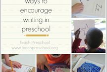 School PK - prewriting / Early childhood prewriting and name activities  / by Lety Ortiz