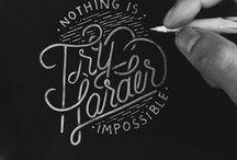 Typography I / Inspirational typography