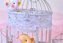 Plstěná dekorace / Ručně šitá dekorace z plsti. Zvířátka, útvary, domečky, srdíčka.