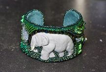 Beads embroidery and other work by Marijke Clement / Beadsembroidery and other beadwork