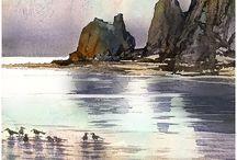 Watercolor Ocean Scenes