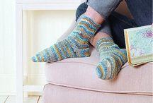 crochet knitting - ponožky