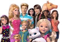 przyjaciele i siostry Barbie