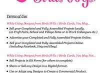 Therms of use Birds card