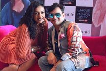 Pink Couch at Lakme Fashion Week SS'15 - Day 4 / Shveta Salve turns up the oomph factor with her sizzling outfit and interviewing some of the most glamorous people at the amante #PinkCouch on Day 4 of #LakmeFashionWeek. #amanteLFW #LFW