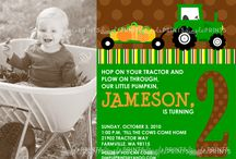 Tractor Fall Birthday Party