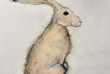 My Hares / My own hare paintings, painted by me. Available on my website and/or Etsy shop HaresAndHerdwicks
