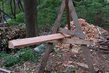 koza na dřevo