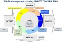 Enterprise Content Management (ECM) / Everything about ECM >|< CAPTURE >|< MANAGE - Document Management - Collaboration - Web Content Management - Records Management -  Business Process Management >|< STORE >|< DELIVER >|< PRESERVE