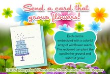 Plantable Greeting Cards / Plantable #Greeting #Cards... Each card is embedded with a colorful array of wildflower seeds. The recipient can plant the card in the ground and watch it grow. Planting instructions are printed on the back of every printed card along with the seed mixture.