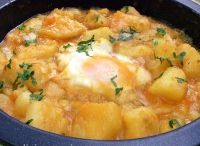 Patatas con huevo
