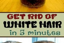 Get rid of white hairs