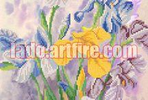 Irises bead embroidery DIY kit