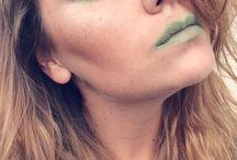 Green land make-up / Moje práce různého druhu make-upu (svatební , denní , večerní ,nude, fotomakeup
