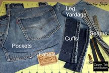 Recycled Denim / Crafts, clothing and accessories made from recycled denim jeans.