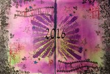 2016 weekly art journal challenge / Art journaling