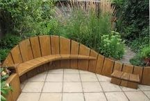 Garden Ideas - Benches / Visual, functional or decorative...the classic garden bench has forged its rightful place in any garden. A flat rock, a classic Cape Dutch wood number or cast in cement....only your imagination will determine what suits your space.