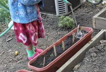 Kids' Garden Ideas / Gardening with kids is a great way to expose them to the wonders of nature! www.meadowsfarms.com