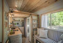 Kleine houten huisjes