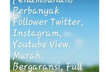 Jasa tambah follower twitter, instagram, dan viewer youtube