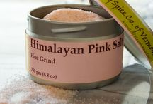 TTS Co.  - Himalayan Pink Salt / Himalayan Pink Salt is a rock salt from the Khewra salt mines of Pakistan. These 4.6 million year old salt deposits are thought to have been discovered by Alexander the Great's horse in 320 B.C. when it started licking the ground during a rest stop. The salt contains many trace minerals along with sodium and chloride. The pink color is trace amounts of iron oxide. We package a fine grind of this beautiful salt in our tins, for easy access for your dishes. Certified Kosher by EarthKosher.