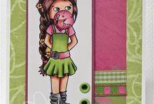 Little Miss Muffet / cards