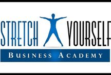 StretchYourself Business Academy / Tools, resources, and videos to help you grow your business, market, and brand yourself, your products or services