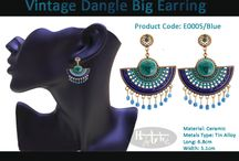Vintage Dangle Big Earrings / #WearDifferent #FeelDifferent #LookHatke Buy Hatke Products from anywhere in India now.. Coz we deliver it right to ur doorstep. Interested buyers can send us a ping for details on price and other stuff or you could just inbox us your number for us to get in touch with you.. Visit our FB page for more details.