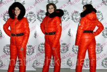 Women's sexy down ski suits Moncler style