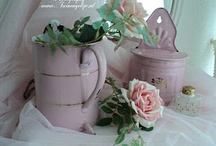 pink old french enamel