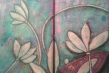My mixed media art journal / My personal mixed media projects. In journals and on cartstock