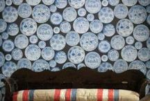 Blue wallpaper  / Blue wallpaper / designer wallpaper / unique wallpaper / on line wallpaper