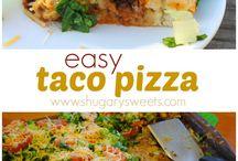 Tacos pizza