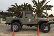 Old Jeep and trucks