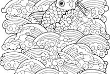 Colouring water and fish