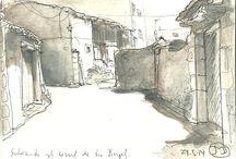 Gredos / Bocetos en mis subidas a Hoyocasero y la sierra de Gredos