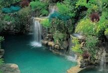 swim pools - waterfalls