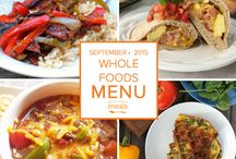 Whole Foods Freezer Menu September 2015 / by Once A Month Meals