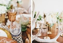 Antler ~ Boho Wedding / Creative details for a bohemian wedding with an antler theme